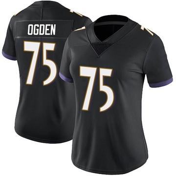 Women's Nike Baltimore Ravens Jonathan Ogden Black Alternate Vapor Untouchable Jersey - Limited