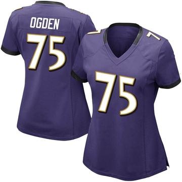 Women's Nike Baltimore Ravens Jonathan Ogden Purple Team Color Vapor Untouchable Jersey - Limited