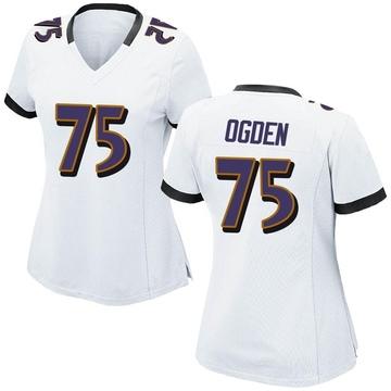 Women's Nike Baltimore Ravens Jonathan Ogden White Jersey - Game