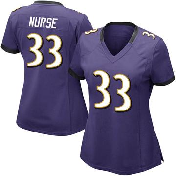 Women's Nike Baltimore Ravens Josh Nurse Purple Team Color Vapor Untouchable Jersey - Limited