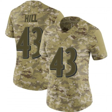 Women's Nike Baltimore Ravens Justice Hill Camo 2018 Salute to Service Jersey - Limited