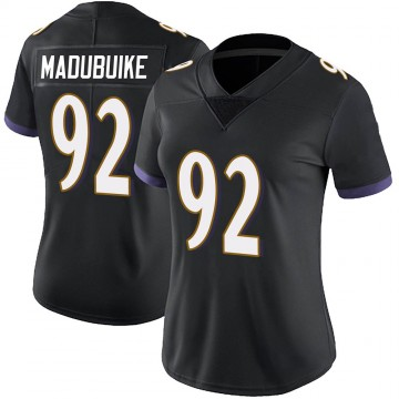 Women's Nike Baltimore Ravens Justin Madubuike Black Alternate Vapor Untouchable Jersey - Limited