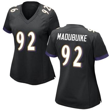 Women's Nike Baltimore Ravens Justin Madubuike Black Jersey - Game