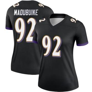 Women's Nike Baltimore Ravens Justin Madubuike Black Jersey - Legend