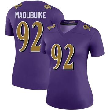 Women's Nike Baltimore Ravens Justin Madubuike Purple Color Rush Jersey - Legend