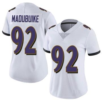 Women's Nike Baltimore Ravens Justin Madubuike White Vapor Untouchable Jersey - Limited