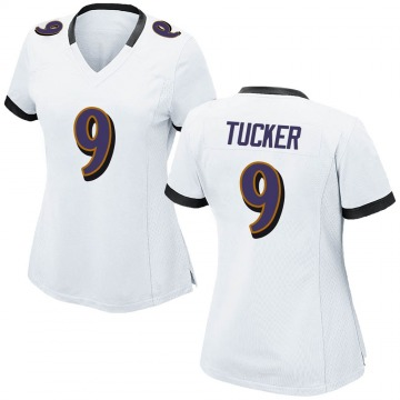 Women's Nike Baltimore Ravens Justin Tucker White Jersey - Game