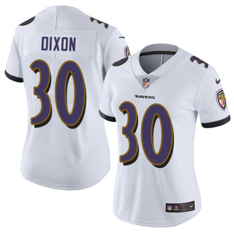huge discount 4062d 2eff3 Women's Nike Baltimore Ravens Kenneth Dixon White Jersey - Limited