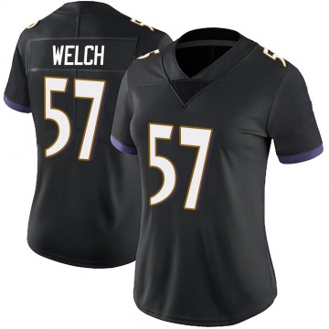 Women's Nike Baltimore Ravens Kristian Welch Black Alternate Vapor Untouchable Jersey - Limited