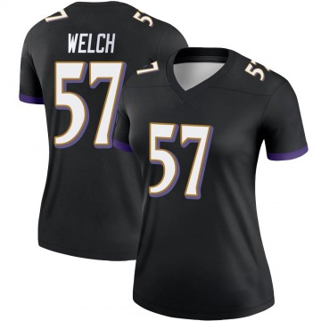 Women's Nike Baltimore Ravens Kristian Welch Black Jersey - Legend