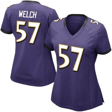 Women's Nike Baltimore Ravens Kristian Welch Purple Team Color Vapor Untouchable Jersey - Limited
