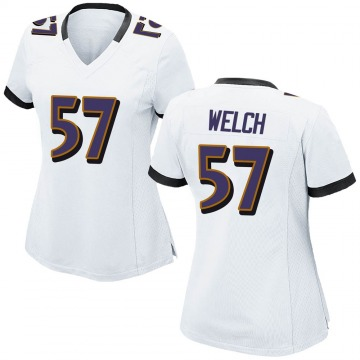 Women's Nike Baltimore Ravens Kristian Welch White Jersey - Game