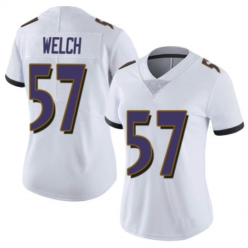 Women's Nike Baltimore Ravens Kristian Welch White Vapor Untouchable Jersey - Limited