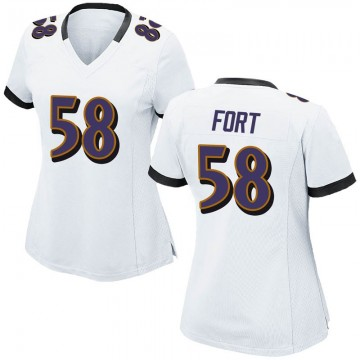 Women's Nike Baltimore Ravens L.J. Fort White Jersey - Game