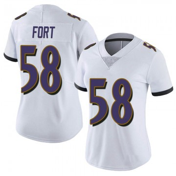 Women's Nike Baltimore Ravens L.J. Fort White Vapor Untouchable Jersey - Limited