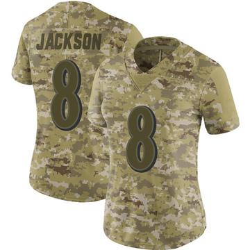 Women's Nike Baltimore Ravens Lamar Jackson Camo 2018 Salute to Service Jersey - Limited