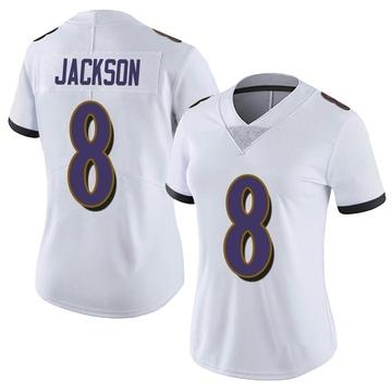 Women's Nike Baltimore Ravens Lamar Jackson White Vapor Untouchable Jersey - Limited
