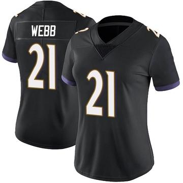 Women's Nike Baltimore Ravens Lardarius Webb Black Alternate Vapor Untouchable Jersey - Limited