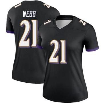 Women's Nike Baltimore Ravens Lardarius Webb Black Jersey - Legend