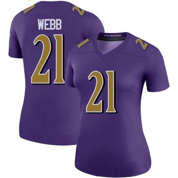 Women's Nike Baltimore Ravens Lardarius Webb Purple Color Rush Jersey - Legend
