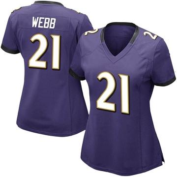 Women's Nike Baltimore Ravens Lardarius Webb Purple Team Color Vapor Untouchable Jersey - Limited
