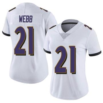 Women's Nike Baltimore Ravens Lardarius Webb White Vapor Untouchable Jersey - Limited