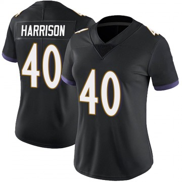 Women's Nike Baltimore Ravens Malik Harrison Black Alternate Vapor Untouchable Jersey - Limited