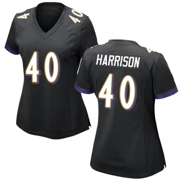 Women's Nike Baltimore Ravens Malik Harrison Black Jersey - Game