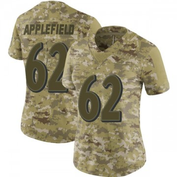 Women's Nike Baltimore Ravens Marcus Applefield Camo 2018 Salute to Service Jersey - Limited