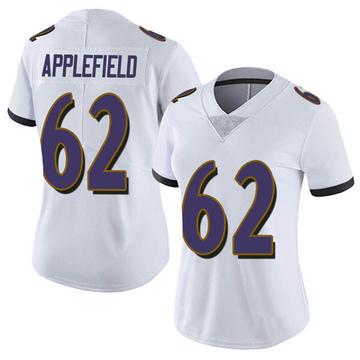 Women's Nike Baltimore Ravens Marcus Applefield White Vapor Untouchable Jersey - Limited