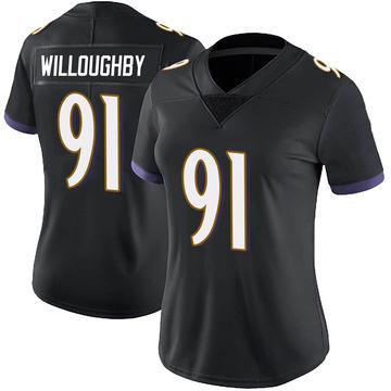 Women's Nike Baltimore Ravens Marcus Willoughby Black Alternate Vapor Untouchable Jersey - Limited