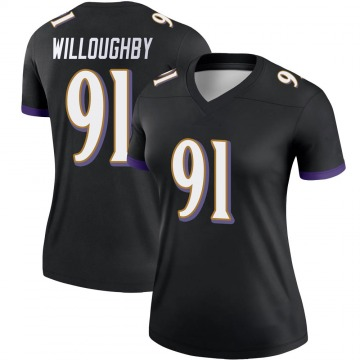Women's Nike Baltimore Ravens Marcus Willoughby Black Jersey - Legend