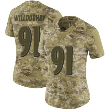 Women's Nike Baltimore Ravens Marcus Willoughby Camo 2018 Salute to Service Jersey - Limited