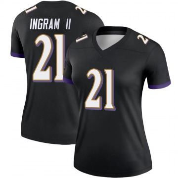 Women's Nike Baltimore Ravens Mark Ingram Black Jersey - Legend