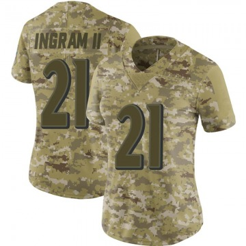 Women's Nike Baltimore Ravens Mark Ingram Camo 2018 Salute to Service Jersey - Limited