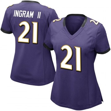 Women's Nike Baltimore Ravens Mark Ingram Purple Team Color Vapor Untouchable Jersey - Limited