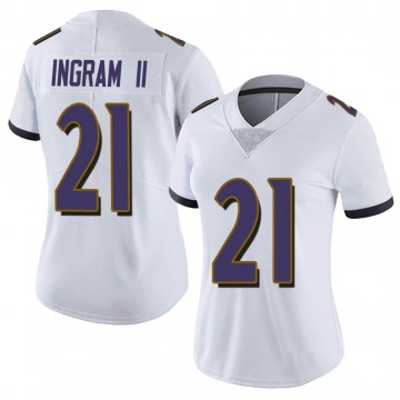 Women's Nike Baltimore Ravens Mark Ingram White Vapor Untouchable Jersey - Limited