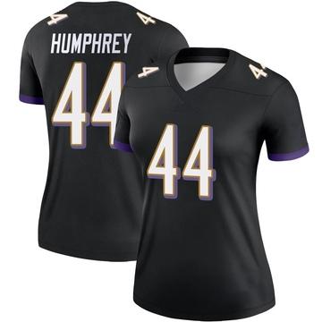 Women's Nike Baltimore Ravens Marlon Humphrey Black Jersey - Legend