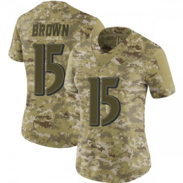 Women's Nike Baltimore Ravens Marquise Brown Brown Camo 2018 Salute to Service Jersey - Limited