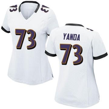Women's Nike Baltimore Ravens Marshal Yanda White Jersey - Game
