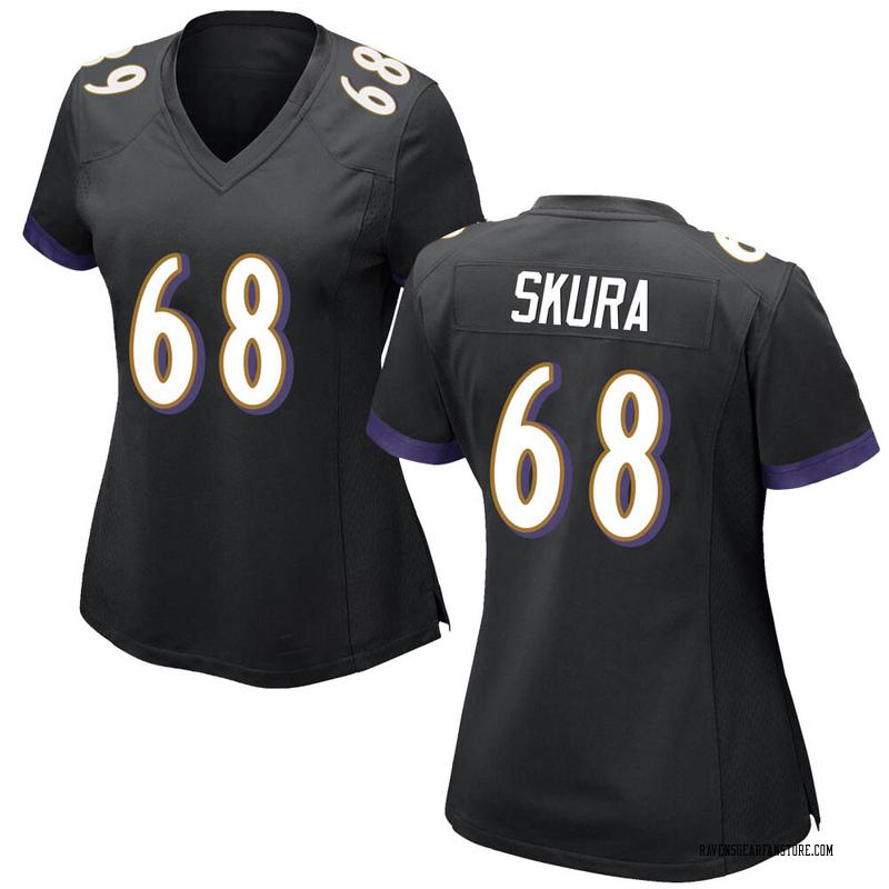 info for 4587c 54f44 Women's Nike Baltimore Ravens Matt Skura Black Jersey - Game
