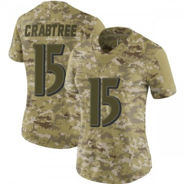 Women's Nike Baltimore Ravens Michael Crabtree Camo 2018 Salute to Service Jersey - Limited