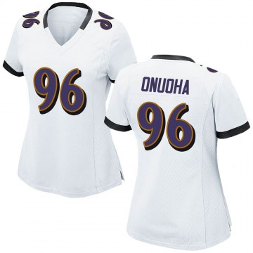 Women's Nike Baltimore Ravens Michael Onuoha White Jersey - Game