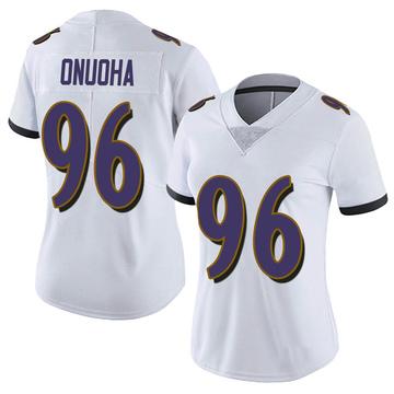 Women's Nike Baltimore Ravens Michael Onuoha White Vapor Untouchable Jersey - Limited