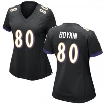Women's Nike Baltimore Ravens Miles Boykin Black Jersey - Game
