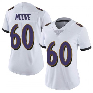 Women's Nike Baltimore Ravens Nick Moore White Vapor Untouchable Jersey - Limited