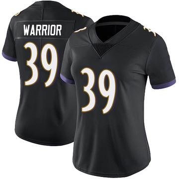 Women's Nike Baltimore Ravens Nigel Warrior Black Alternate Vapor Untouchable Jersey - Limited