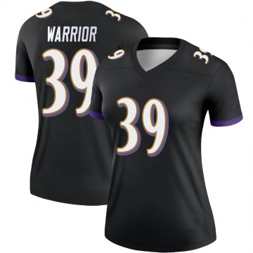 Women's Nike Baltimore Ravens Nigel Warrior Black Jersey - Legend