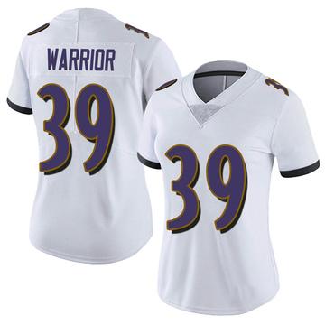 Women's Nike Baltimore Ravens Nigel Warrior White Vapor Untouchable Jersey - Limited