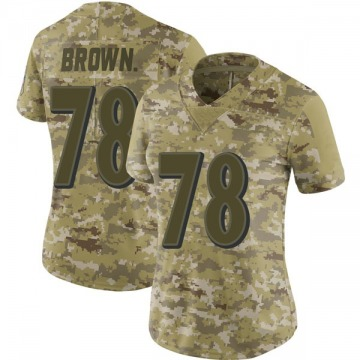 Women's Nike Baltimore Ravens Orlando Brown Jr. Brown Camo 2018 Salute to Service Jersey - Limited